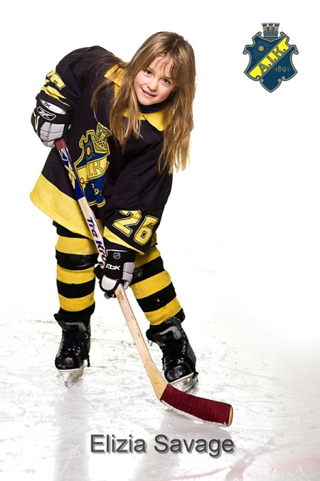 Elizia Savage, Girl Ice Hockey Player, AIK, A.I.K.