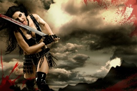 Warrior Queen, Tallee Savage, 300 the movie, lick blood sword