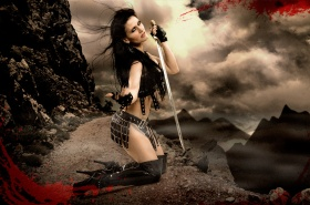 Warrior Queen, Tallee Savage, 300 the movie, blood sword