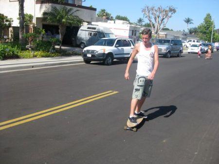 Tim Savage skateboarding