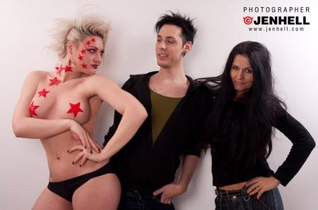 Lisa, Haristylist Hanse, Make Up Artist Tallee Savage