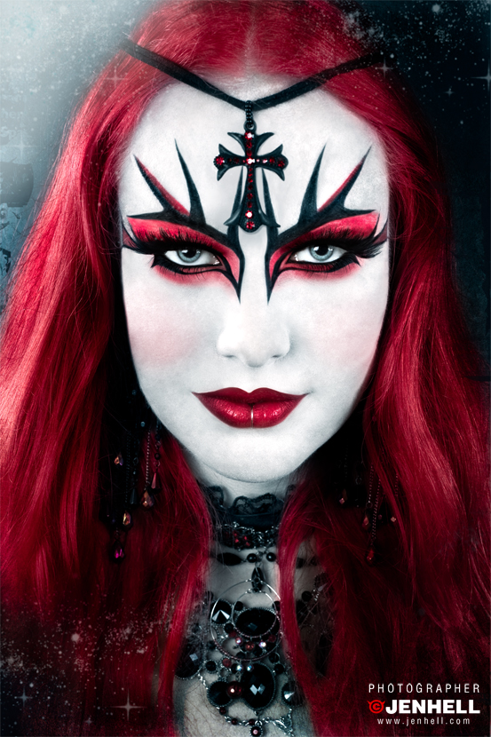 Gothic Red Makeup